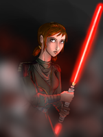 Bastila Shan as a Sith by Lmih