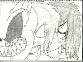 Sonic.EXE, Herobrine and Jeff the Killer (Sketch) by CreepypastaGirl1001