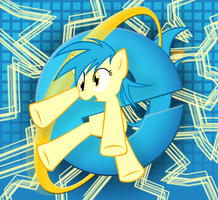 Internet Explorer Pony Wallpaper by Musical-Medic