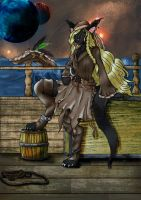 Black Lynx Pirate by DeathInTheReaper
