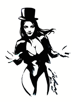 Zatanna Sketch by JulianPetrov
