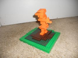 Orange on Grass (LEGO Abstract) by marimba54