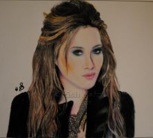 Hilary Duff Coloured Sketch by ladysofhousen