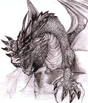 My first Deviation, a Dragon by artzumy