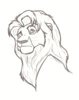 Sketch: Simba by Anonim911
