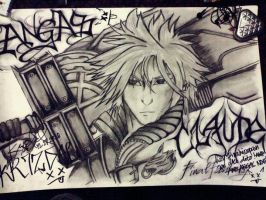 Cloud Strife to Claude. by KRIZYOW