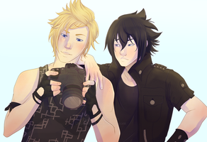 17/50 NoctisxPrompto - FFXV by Decora-Chan