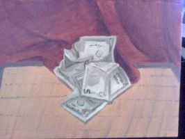 oil painting of money by DivisionK