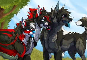 Bunch O Dumb Dogs by xBloodShadow