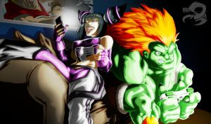 Selfie with Blanka by NDGO