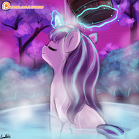 30minutechallenge - starlight glimmer at the onsen by luminaura