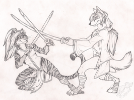 Sparring by StangWolf