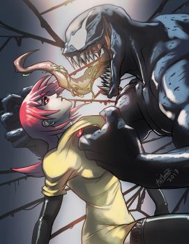 Venom and fan char by Art1derer