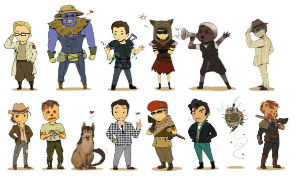 Fallout Chibis Extravaganza by Momo-Deary
