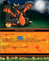 Dragon Halloween Journal Skin by The-Magic-Of-Flames