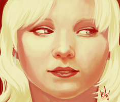 Limited Palette Portrait by daughterofthestars