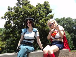 Jill Valentine and Super Girl by bprinsurance