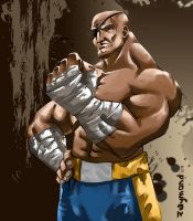 sf sagat by aerlixir