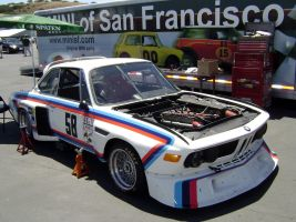 BMW 3.5L CSL at Laguna Seca by Partywave