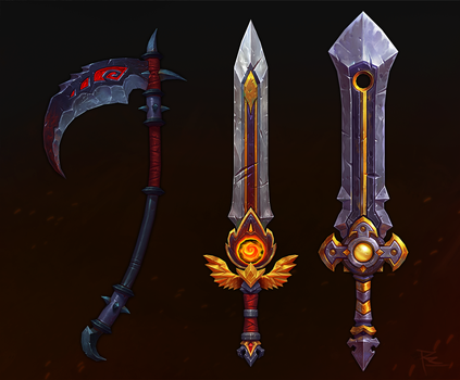 hand painted weapons 2 by rzanchetin