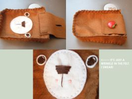 Bamboo Felt Camera Case by hellohappycrafts