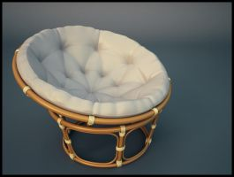 Papasan Chair by Brazowy