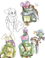 TMNT: Animal Hats by Ty-Chou