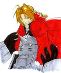 the Elric Brothers - colored by blackxdragon