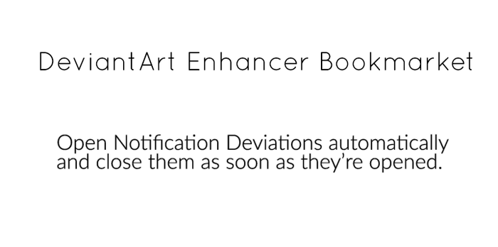 Bookmarklet to open notifications automatically by myxton