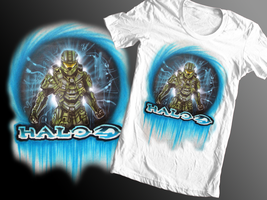 Halo T-shirt design 2 by chrisfurguson