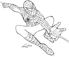 Spiderman Lineart by angstypoet