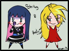 Panty and Stocking Chibified by Shiori-K