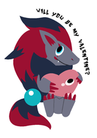 Zoroark Valentine by Ilona-the-Sinister