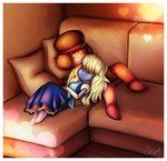 Ruby and Sapphire by SheriBonBon