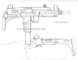 Uzi submachine gun by Baron-Engel