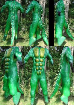 My own Lizardman Body by Arooki