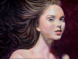Lily Cole - Portrait Study by DevilishlyCreative