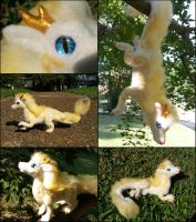 Posable Needle Felted Eastern Dragon by SnowFox102