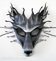 Leather wolf mask by shmeeden