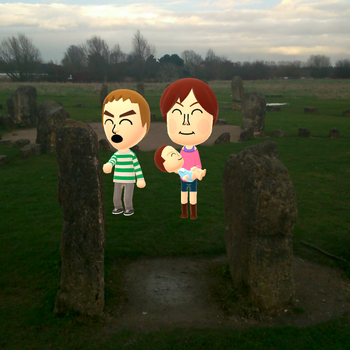 yankiedude and emily and layla are at the stones by yungdeez