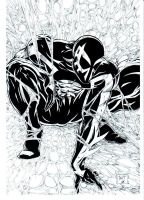 BW Spider-Man 2099 inks by Venom20XX