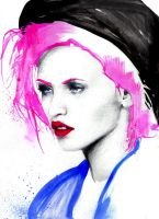 max gregor pink hair by maxgregorart