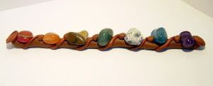 Crystal and Clay Charkra wand by carriephlyons