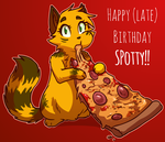 Belated Birthday Spotty by ColacatintheHat