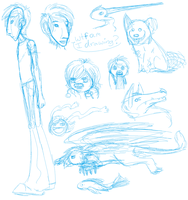 WTF AM I DRAWING Sketch dump by Innuo