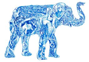ming vase elephant by brian9267
