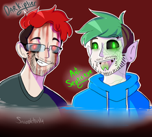 Darkiplier And Antisepticeye by Raymour