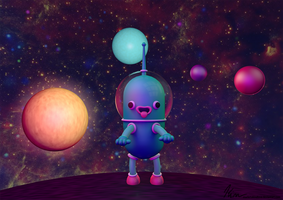 Little Cute Spaceman by MarketaKindlova