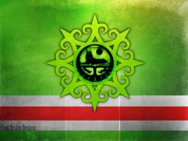 Chechnyan Flag ORIGINAL by AbedArslan86