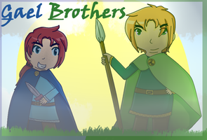[APH OC AT] Gael Brothers by poi-rozen